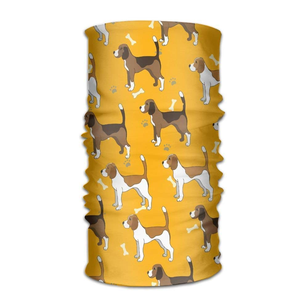 Men Women Cute Dog Breed Beagle Daily Headscarf UV Protection Microfiber Sports Headwear Bandanas Sun Mask Multifunctional Headband Cycling Running Magic Scarf Outdoors