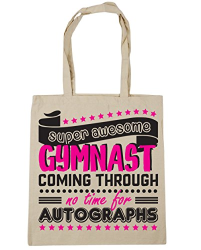42cm Gym No Bag Natural Tote Time Through Gymnast Coming Beach 10 Autographs For HippoWarehouse x38cm Shopping Super litres Gymnastics Awesome X76RRZ