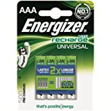 Energizer Rechargeable Universal AAA 500mAh Batteries - Pack of 4 batteries