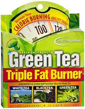 Green Tea Triple Fat Burner (Applied Nutrition Green Tea Triple Fat Burner Liquid Soft-Gels Maximum Strength - 30 ct, Pack of 2)