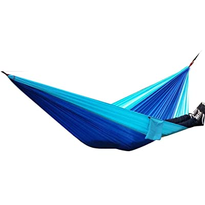 Parachute Nylon Tissu extérieur Hamac deux personnes Amoureux Voyage en famille Camping Sleeping Balançoire lit suspendu 270 * 140 LUFA