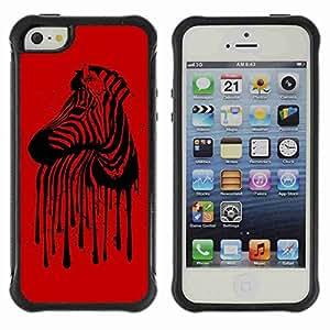 A-type Arte & diseño Anti-Slip Shockproof TPU Fundas Cover Cubre Case para Apple iPhone 5 / 5S ( Cool Zebra Stripes Illustration )