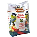 BIRD SEED ROBIN GARDEN FEED 0.9kg FRUIT BERRIES INSECTS & SUET ENERGY WILD FOOD