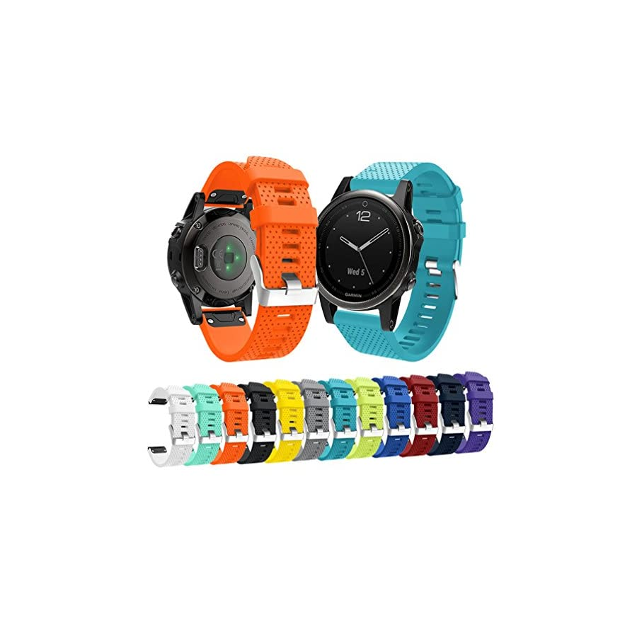 Garmin Fenix 5S Watch Band, MoreToys Silicone Quick Fit Wrist Band Replacement Straps Bracelet for Garmin Fenix 5S Smart Watch