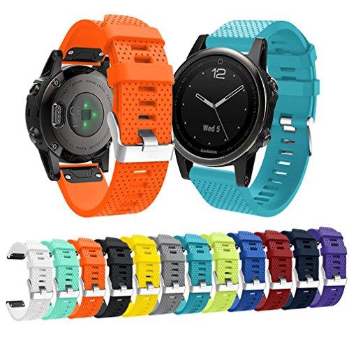 Garmin Fenix 5S Watch Band, MoreToys Silicone Quick Fit Wrist Band Replacement Straps Bracelet for Garmin Fenix 5S Smart Watch