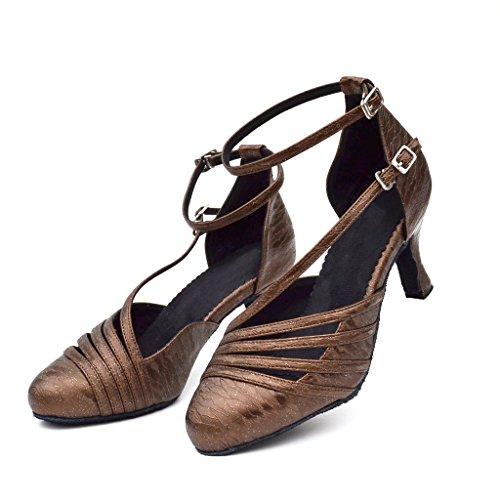 misu - Zapatillas de danza para mujer marrón marrón
