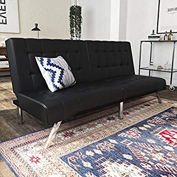 Amazon.com: Best Choice Products Modern Faux Leather Futon ...