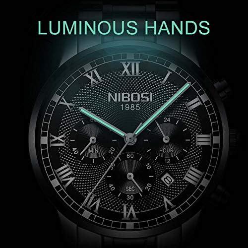 時計男時計防水高級カジュアル男性腕時計フルステンレススチール腕時計