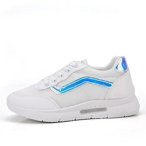 Zapatos de Mujer Pequeños Zapatos Blancos, Zapatos Ocasionales Huecos Respirables Inferiores Huecos, Zapatillas de: Amazon.es: Zapatos y complementos