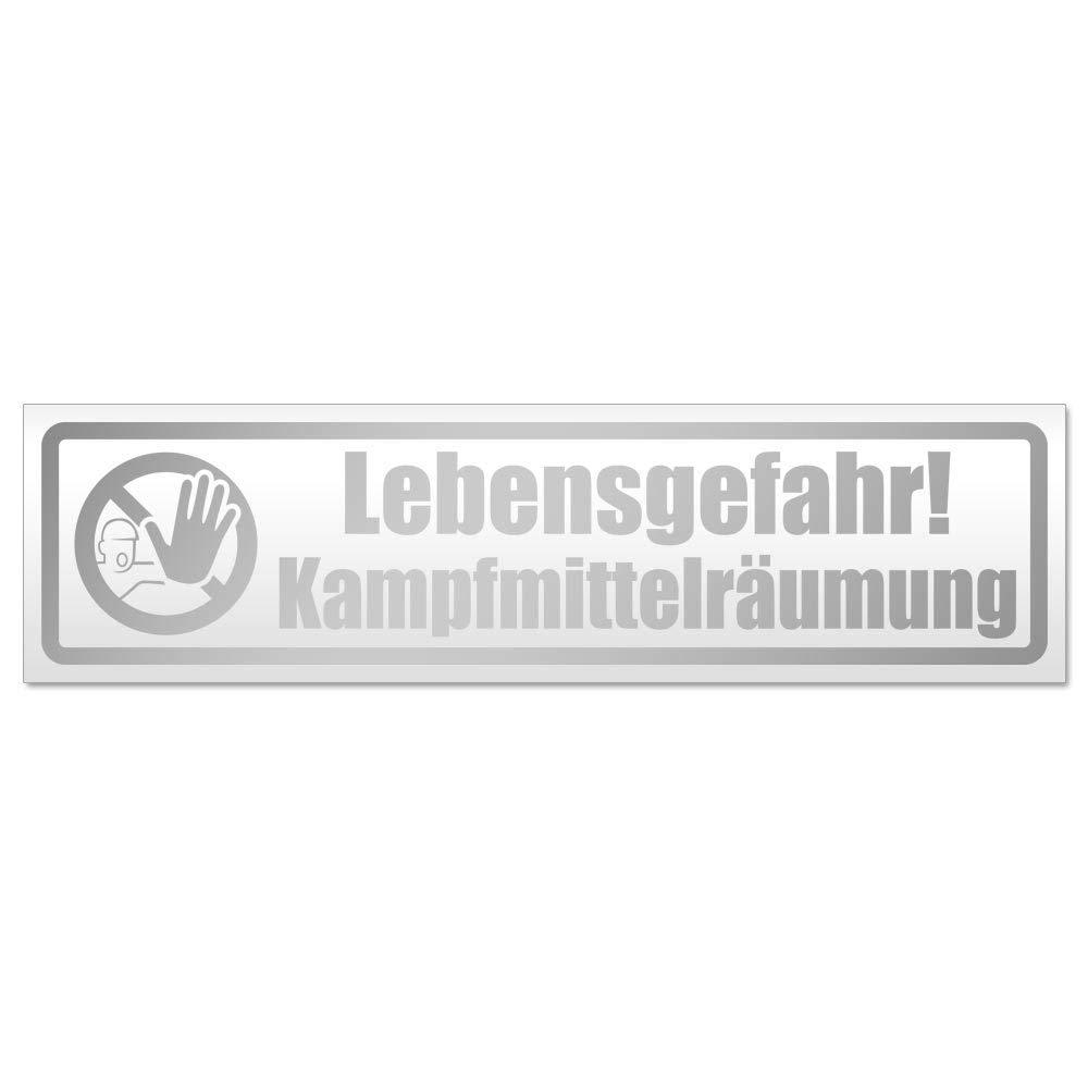 Kiwistar Lebensgefahr Kampfmittelr/äumung Magnetschild Schild magnetisch