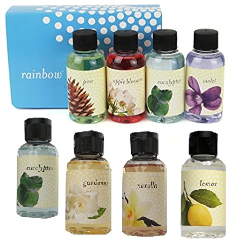 Ultimate Rainbow Fragrance Custom Edition 8 Pack: Package includes- Violet, 2 Eucalyptus, Pine, Apple Blossom, Vanilla, Lemon, and Gardenia.
