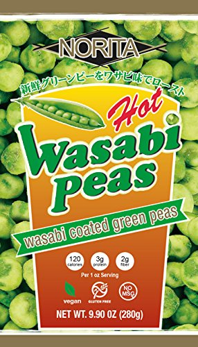 Norita Hot Wasabi Peas 9.9 oz - 12 per case by Norita