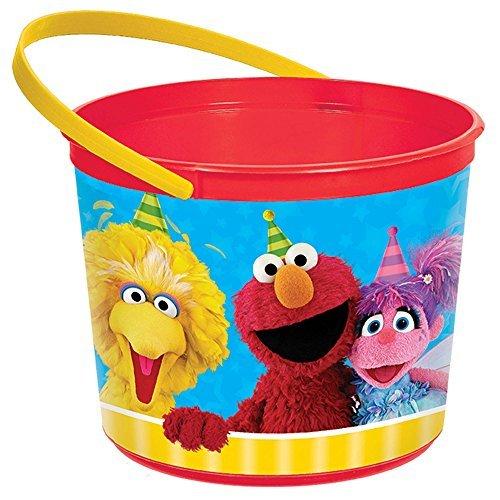 Sesame Street Bucket Pail (Amscan 261672 Party Favor, Measures 5