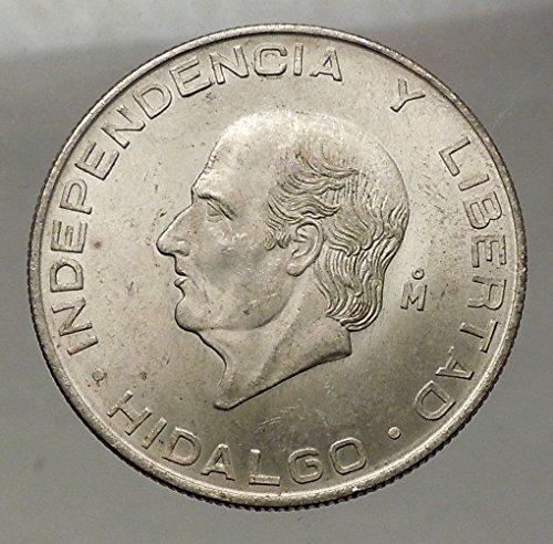 1956 MX 1956 MEXICO Large SILVER 5 Pesos Coin w MEXICAN I coin - Mexico Shop Online