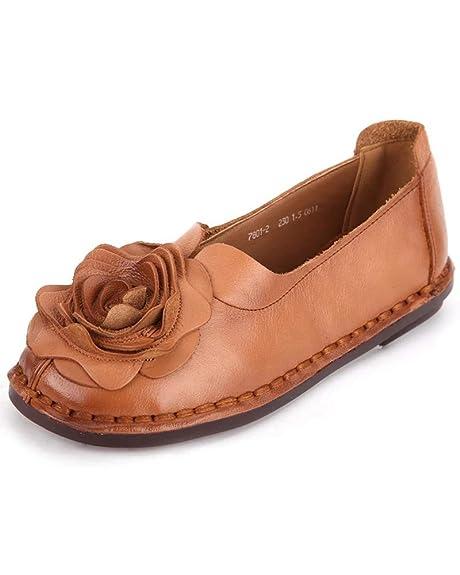 Mrs Duberess - Mocasines de Cuero para Mujer: Amazon.es: Zapatos y complementos