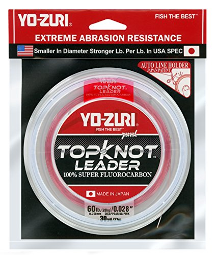 Yo-Zuri Topknot 30 yd Sinking Leader, Disappearing Pink, 60 lb