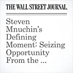 Steven Mnuchin's Defining Moment: Seizing Opportunity From the Financial Crisis | Rachel Louise Ensign,Anupreeta Das,Rebecca Ballhaus