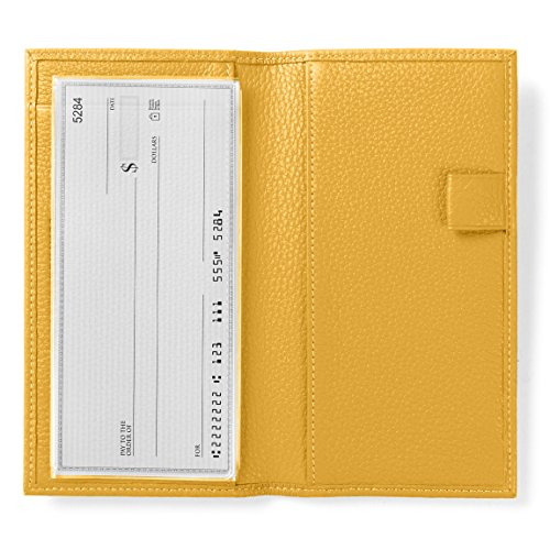yellow checkbook cover - 3