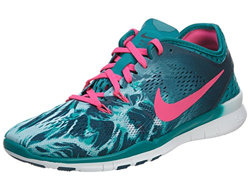 Nike Frauen Free 5.0 Tr Fit 5 Prt Trainingsschuh Frauen US Smaragd-Rosa