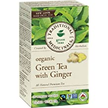 Traditional Medicinals Organic Green Tea With Ginger, 20 tea bags
