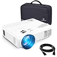 VANKYO LEISURE 3 LED Mini Portable Projector with Carrying Bag, 1800 Lumens Video Projector with 170'' Display and 1080P Support, Compatible with Fire TV Stick, HDMI, VGA and USB with Free HDMI Cable