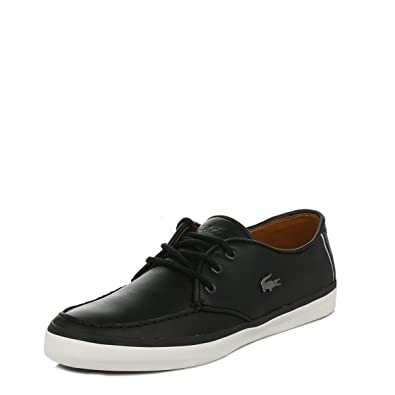 81d6f5991 Lacoste Mens Black Sevrin LCR Leather Trainers  Amazon.co.uk  Shoes   Bags