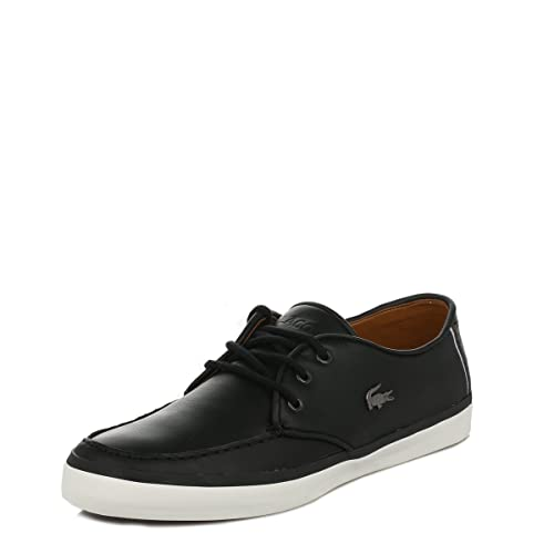 Lacoste Mens Black Sevrin LCR Leather Trainers-UK 7
