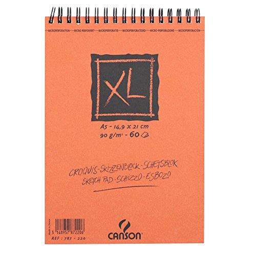 CANSON XL Skizzenblock Zeichenpapier 60Blatt A590g Elfenbeinfarben (14,9x 21cm)