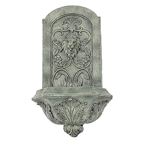 Sunnydaze Decorative Lion Outdoor Wall Fountain, French L...