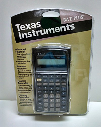 1996 Texas Instruments Advanced Business Analyst BAII PLUS Financial Calculator w/Cover