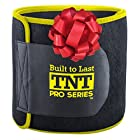 A waist trimmer that is wide enough to cover up your entire abdominal area. That won't slip and fall out of place during use. And will actually repel (not absorb.) sweat during exercise. Introducing the only 100% latex free neoprene waist tri...