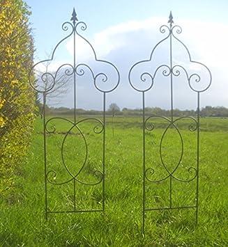 Unbekannt 2er Set Steck Rankgitter Eisen Antik Landhausstil Garten