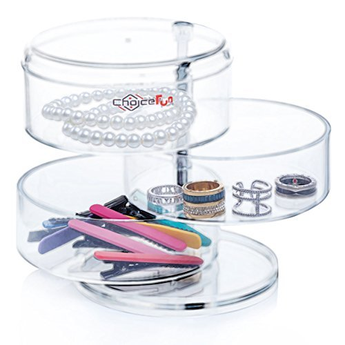 Choice Fun Acrylic Makeup Organizer Rota - Bedroom Round Dresser Shopping Results