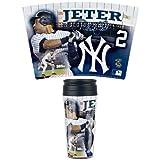 Wincraft MLB ヤンキース #2 デレク・ジーター Travel Mug Contour タンブラー - [その他]