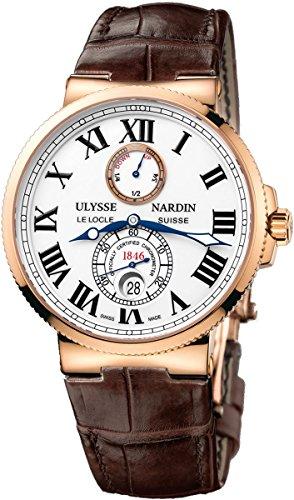 Ulysse Nardin Maxi Marine Chronometer Automatic 18kt Rose Gold Mens Watch 266-67/40