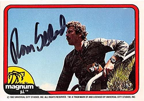 Magnum Pi 1982 Signed Card Supply Tom Selleck Autograph