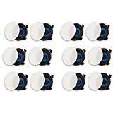 Acoustic Audio R195 In Ceiling Slim Edge Speakers Home Theater Surround 6 Pair Pack
