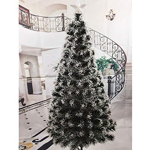 DW&HX Fibra óptica árbol de Navidad Artificial, Cambio de Color con bisagras Fácil de Montar Soporte de Metal Árbol de...