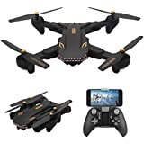 AMAZINGBUY - VISUO XS809S 2.0MP HD Wide Angle Camera Foldable SHARKS Drone Wifi FPV RC Quadcopter - 3.7V 1800mAh Up To 20 Minutes Long Fly Time Drone VISUO XS809HW XS809W XS809 [2018 Upgraded Version]