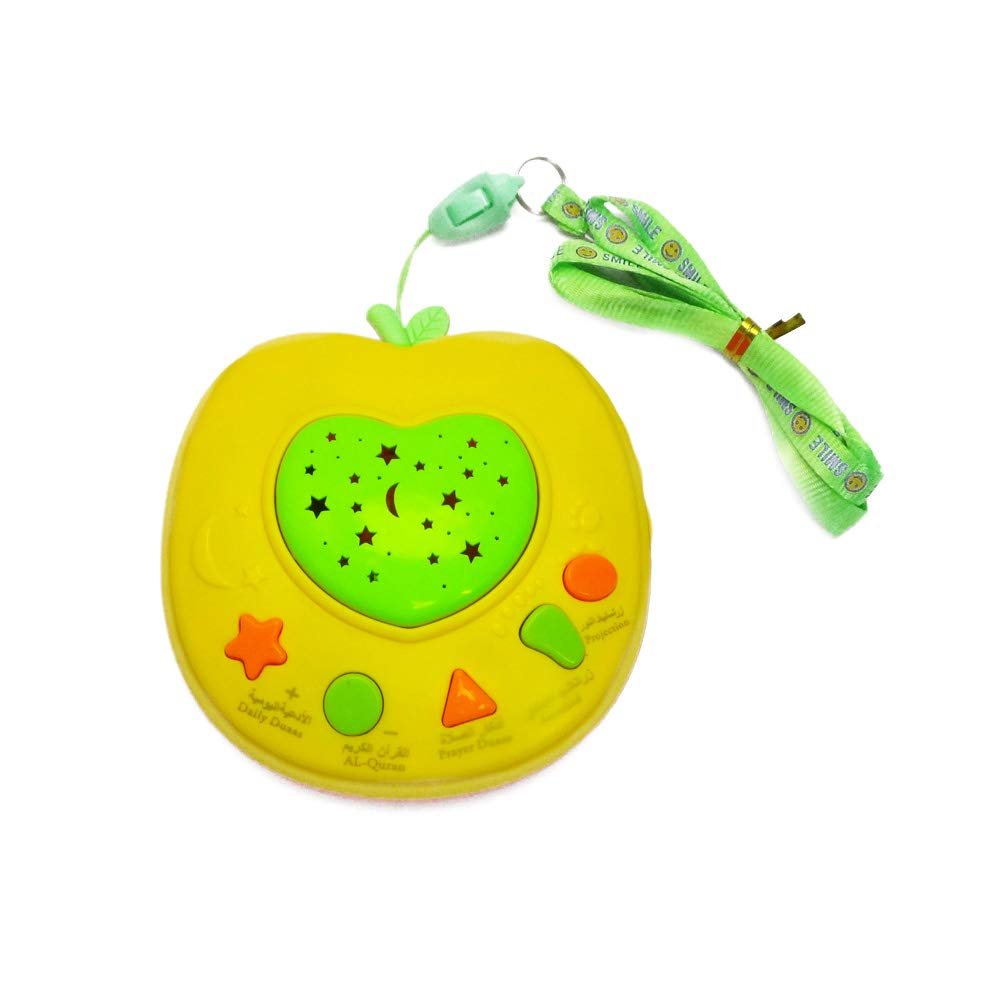 yibenwanligod Apple Shape Lernmaschine LED Lichtprojektor Kinder Pädagogisches Spielzeug - Grün