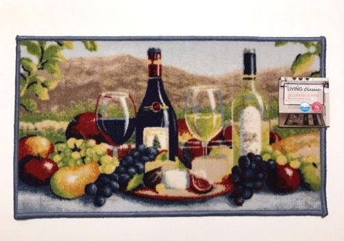 wine and grapes kitchen rugs - 7