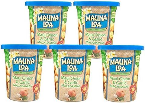 MAUNALOA(マウナロア) マカデミアナッツ マウイオニオン&ガーリック 5個セット