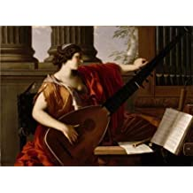 'Laurent De La Hyre-Allegory Of Music,1649' Oil Painting, 24x33 Inch / 61x84 Cm ,printed On High Quality Polyster Canvas ,this High Resolution Art Decorative Canvas Prints Is Perfectly Suitalbe For Garage Decor And Home Artwork And Gifts