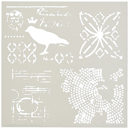 Crafters Workshop Raven Mosaic Crafter's Workshop Template, 6 by 6'' by CRAFTERS WORKSHOP