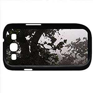 Oak Trees in the Fog (California) (Fields Series) Watercolor style - Case Cover For Samsung Galaxy S3 i9300 (Black)