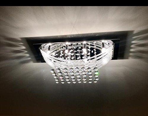 Luxuriant crystal flush mount light with 8 lights ceiling light luxuriant crystal flush mount light with 8 lights ceiling light fixture moderncontemporary chandeliers of ella fashion amazon aloadofball Gallery