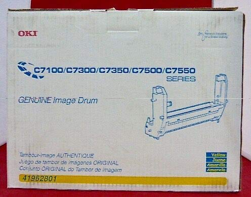Printers C7500 Series (Genuine NEW Okidata 41962801 Yellow Toner Imaging Drum Unit)