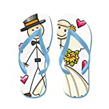 CafePress Bride and Groom - Flip Flops, Funny Thong Sandals, Beach Sandals