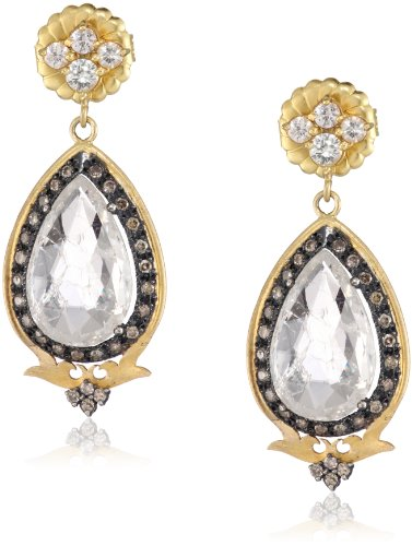 "Sara Weinstock ""Chandelier"" Crystal Deco Pear Shape Drop Earrings"