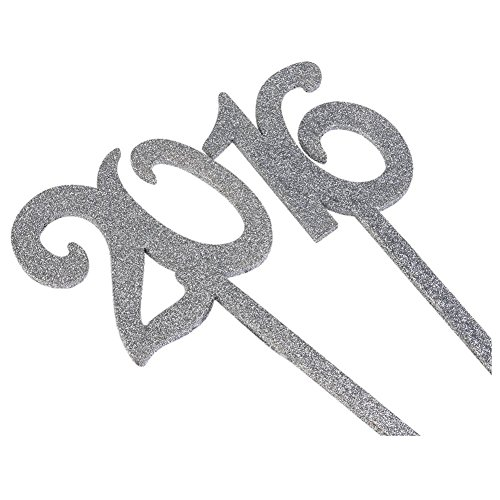 SODIAL(R) Wedding Table Numbers Holders Thicken Wood with Glitter, Silver by SODIAL(R) (Image #6)